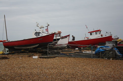 Boats at Deal in Kent